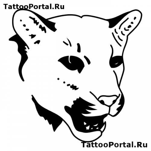 Эскиз татуировки кошки львы скачать